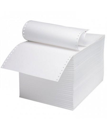 Perforuotas popierius, vienasluoksnis, su kraštine perforacija, 60 g/m2, A4, 1800 lapų
