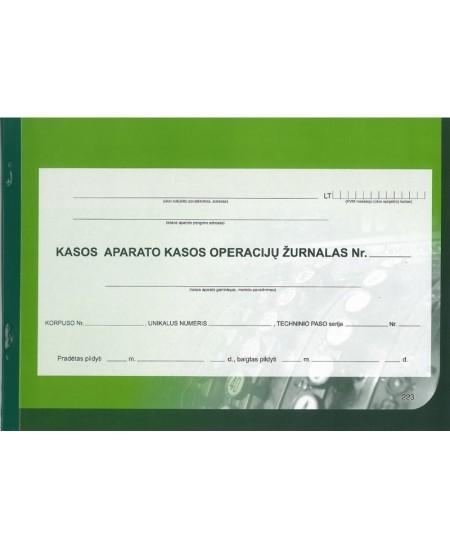 Kasos aparato kasos operacijų žurnalas, A4, horizontalus, 73 lapai
