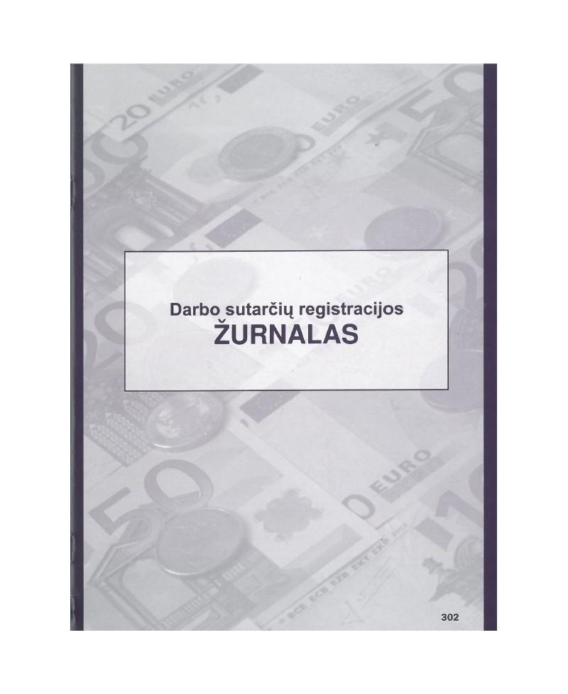 Darbo sutarčių registravimo žurnalas, A4, vertikalus, 12 lapų