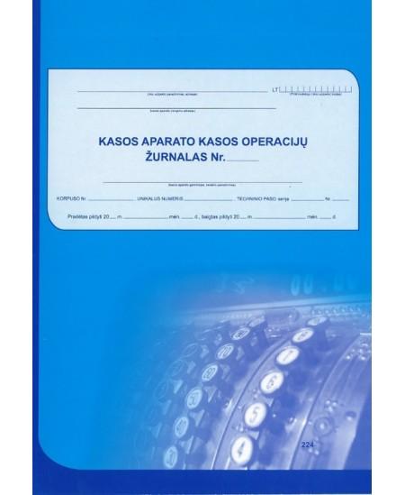 Kasos aparato kasos operacijų žurnalas, A4, vertikalus, 73 lapai