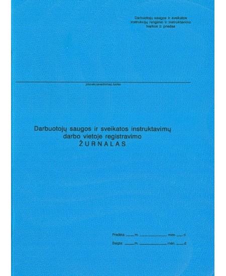 Darbuotojų saugos ir sveikatos instruktavimų darbo vietoje registacijos žurnalas, A4, vertikalus, 22 lapai