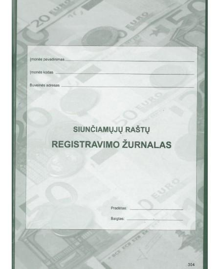 Siunčiamų raštų registravimo žurnalas, A4, vertikalus, 40 lapų