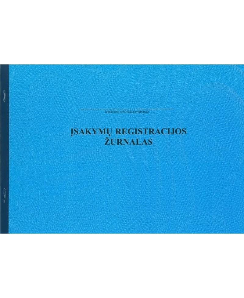 Įsakymų registracijos žurnalas, A4, horizontalus, 12 lapų
