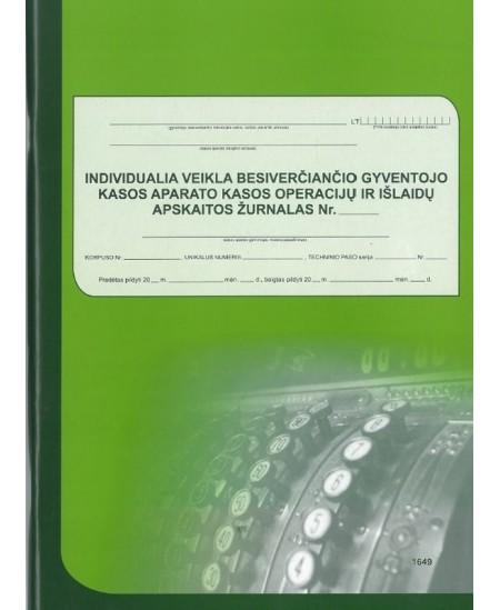 Ind. veikla besiverčiančio gyventojo kasos operacijų ir išlaidų žurnalas, A4, vertikalus, 74 lapai