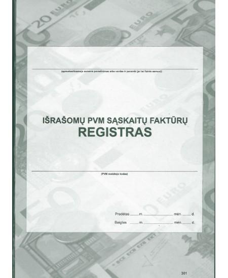 Išrašomų PVM sąskaitų-faktūrų registras, A4, vertikalus, 48 lapai