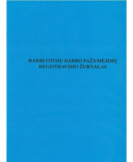 Darbuotojų darbo pažymėjimų registravimo žurnalas, A4, vertikalus, 12 lapų