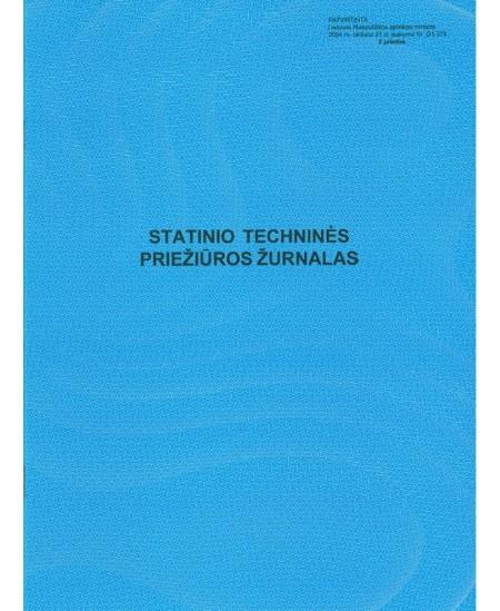 Statinio techninės priežiūros žurnalas, A4, vertikalus, 14 lapų