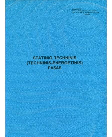 Statinio techninis (techninis-energetinis) pasas, A4, vertikalus, 8 lapai