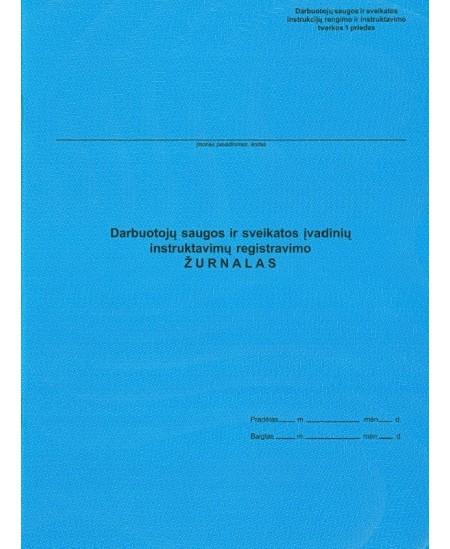 Darbuotojų saugos ir sveikatos įvadinių instruktavimų registracijos žurnalas, A4, vertikalus, 10 lapų