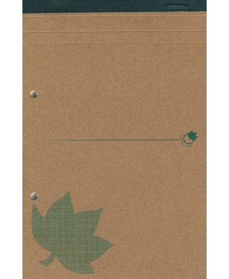 Bloknotas KRAFT NEW LIFE, A5, 80 lapų, langeliais, su perforacija