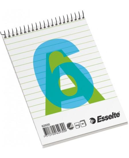 Bloknotas ESSELTE, A6, linijomis, su spirale viršuje