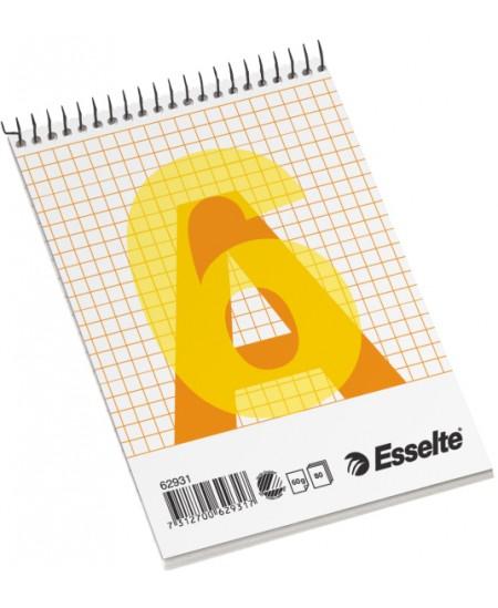 Bloknotas ESSELTE, A6, langeliais, su spirale viršuje