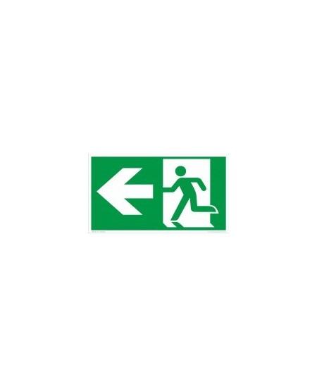 """Evakuacinis saugos ženklas \""""Išėjimas į kairę\"""""""