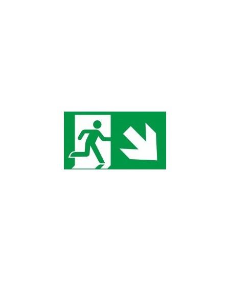 """Evakuacinis ženklas \""""Išėjimas žemyn į dešinę\"""""""