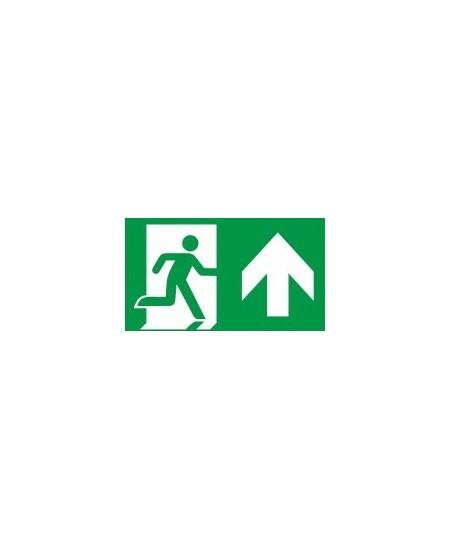 """Evakuacinis saugos ženklas \""""Išėjimas čia\"""""""