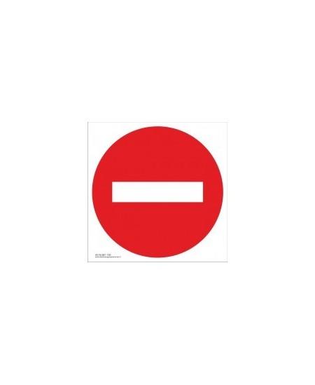 """Draudžiamasis saugos ženklas \""""Draudžiamas praėjimas ir pravažiavimas\"""""""