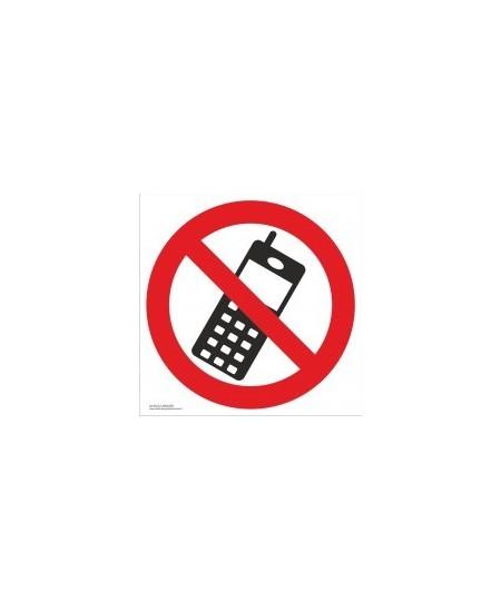 """Draudžiamasis saugos ženklas \""""Draudžiama naudotis telefonu\"""""""
