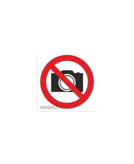 """Draudžiamasis saugos ženklas \""""Draudžiama filmuoti ir fotografuoti\"""""""