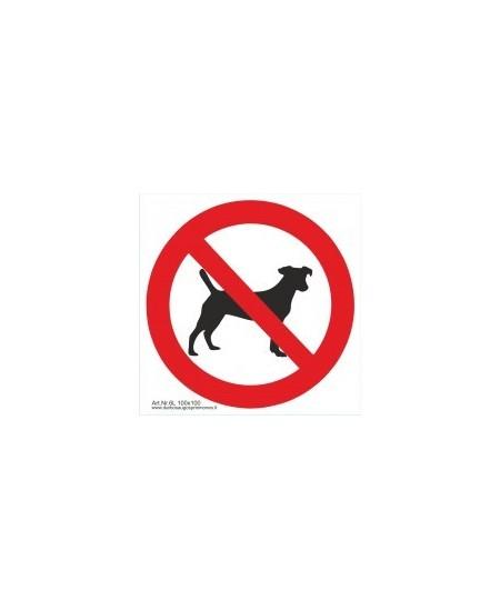 """Draudžiamasis saugos ženklas \""""Draudžiama įeiti su gyvūnais\"""""""