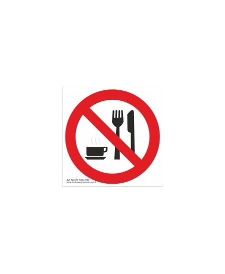 """Draudžiamasis saugos ženklas \""""Draudžiama valgyti\"""""""