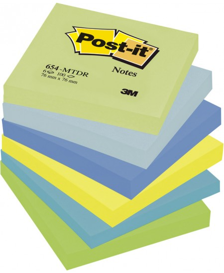 Lipnių lapelių kubas Post-it® DREAMY COLOURS, 76x76 mm, 600 lapelių