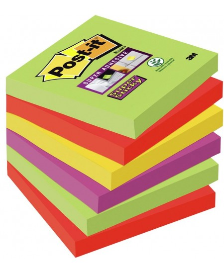 Itin lipnių lapelių kubas Post-it® SUPER STICKY MARRAKESH, 76x76 mm, 450 lapelių