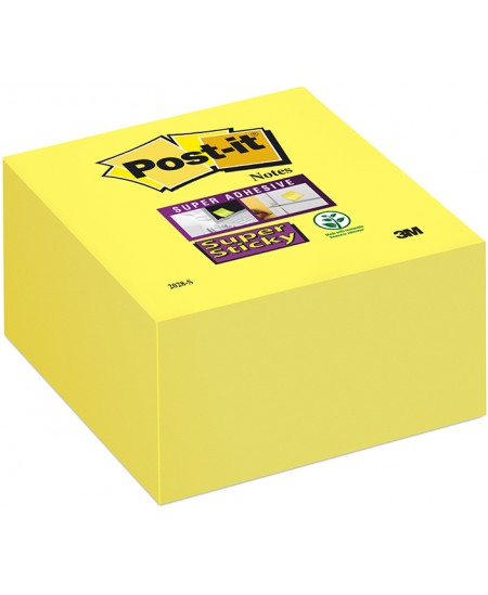 Itin lipnūs lapeliai Post-it® SUPER STICKY, 76x76 mm, 350 lapelių, geltoni