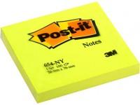 Lipnūs lapeliai POST-IT Neon, 76x76 mm, 100 lapelių, geltoni