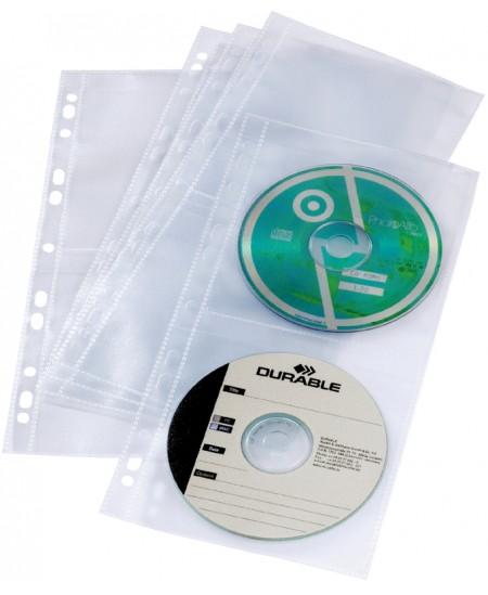 Įmautės DURABLE 4-iems CD, archyvavimui, 5 vnt.