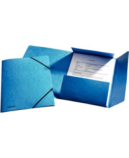 Aplankas su guma ESSELTE, kartoninis, A4, mėlynas