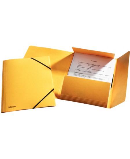 Aplankas su guma ESSELTE, kartoninis, A4, geltonas