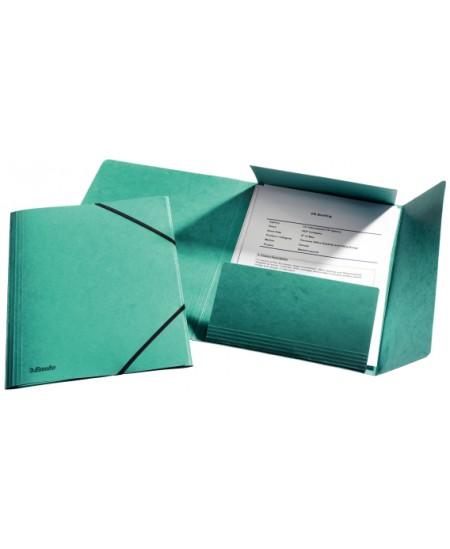 Aplankas su guma ESSELTE, kartoninis, A4, žalias