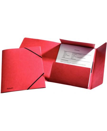 Aplankas su guma ESSELTE, kartoninis, A4, raudonas
