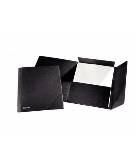 Aplankas su guma ESSELTE, kartoninis, A4, juodas