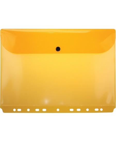 Įmautė EAGLE dokumentams su užsegamu kraštu, A4, skaidriai oranžinė