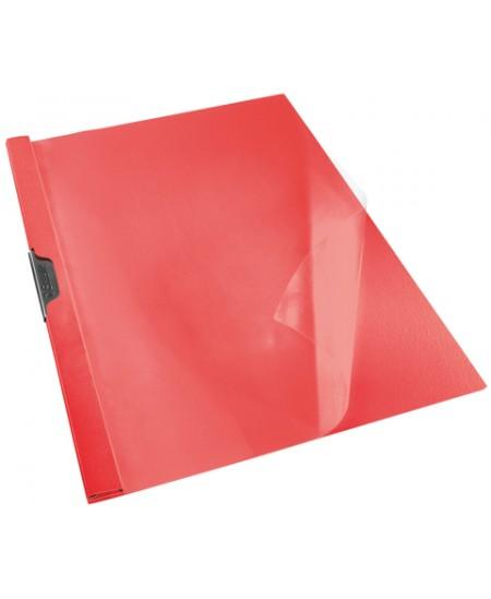 Aplankas su spaustuku ESSELTE, A4, raudonas