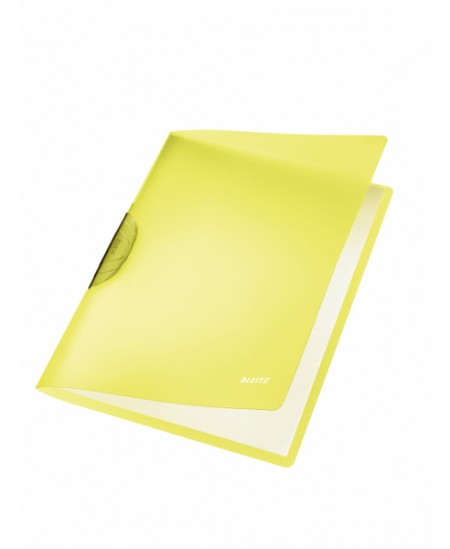 Aplankas su spaustuku LEITZ, A4, geltonas