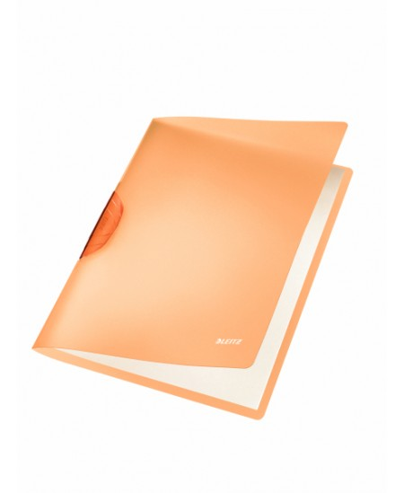 Aplankas su spaustuku LEITZ, A4, oranžininis