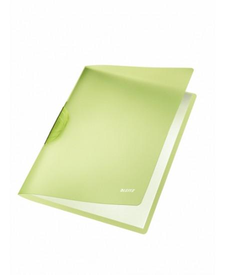 Aplankas su spaustuku LEITZ, A4, A4, žalias