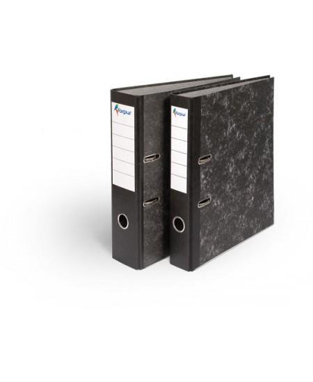Segtuvas FORPUS, marmurinis, A4, 50 mm, juoda nugarėlė