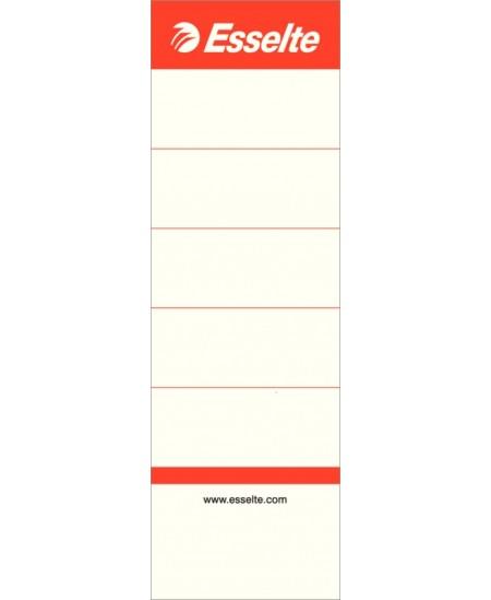 Etiketės segtuvams ESSELTE, 50x158 mm, 75 mm segtuvui, 100 vnt.