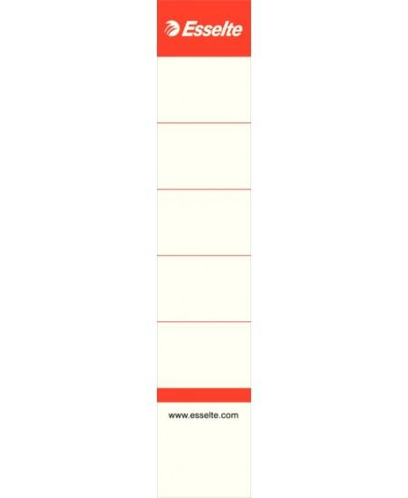 Etiketės segtuvams ESSELTE, 30x158 mm, 50 mm segtuvui, 100 vnt.