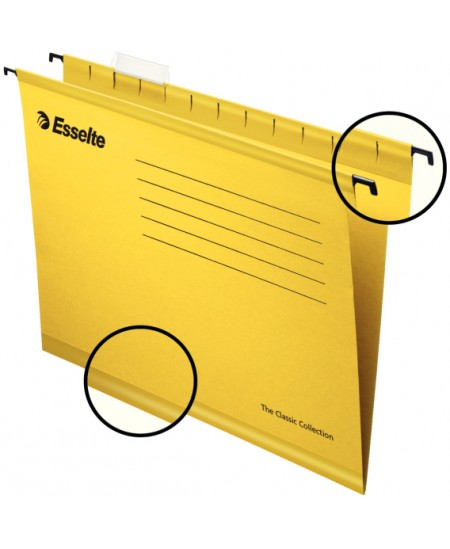 Kartotekinis vokas ESSELTE Classic, geltonas