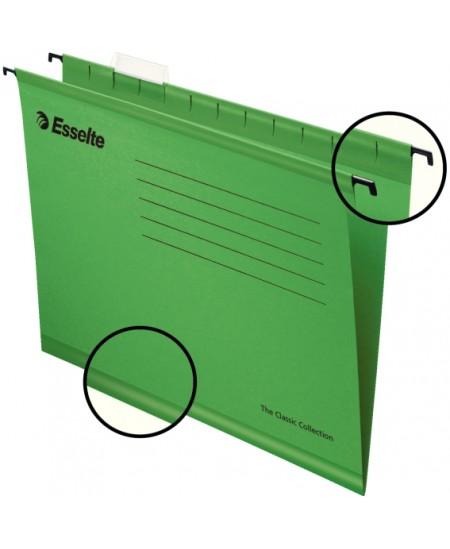 Kartotekinis vokas ESSELTE Classic, žalias