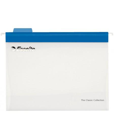 Kartotekiniai vokai ESSELTE Easyview, plastikiniai, mėlyni, 10 vnt.