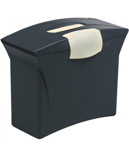 Kartotekinių vokų dėžė su dangčiu ESSELTE Intego, juoda