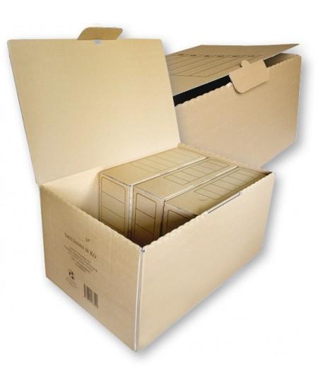 Archyvinė dėžė SM-LT, 550x350x265 mm, gofro kartono, su spauda, ruda