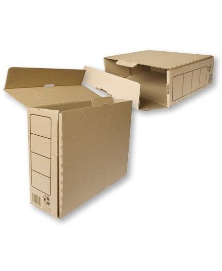 Archyvinė dėžė SM-LT, 330x245x100 mm, gofro kartono, su spauda, ruda