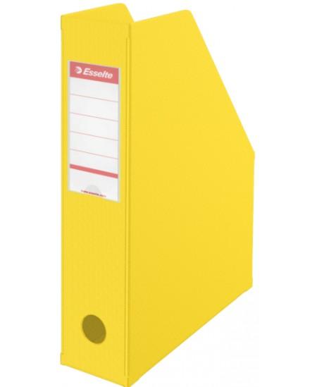 Sulankstomas dokumentų stovas ESSELTE, A4, 70mm, geltonas