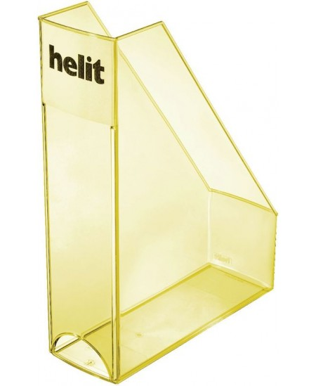 Dokumentų stovas HELIT, skaidrus, geltonas